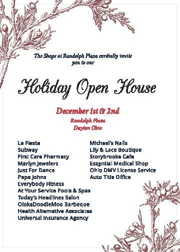 Holiday Open House Flyer