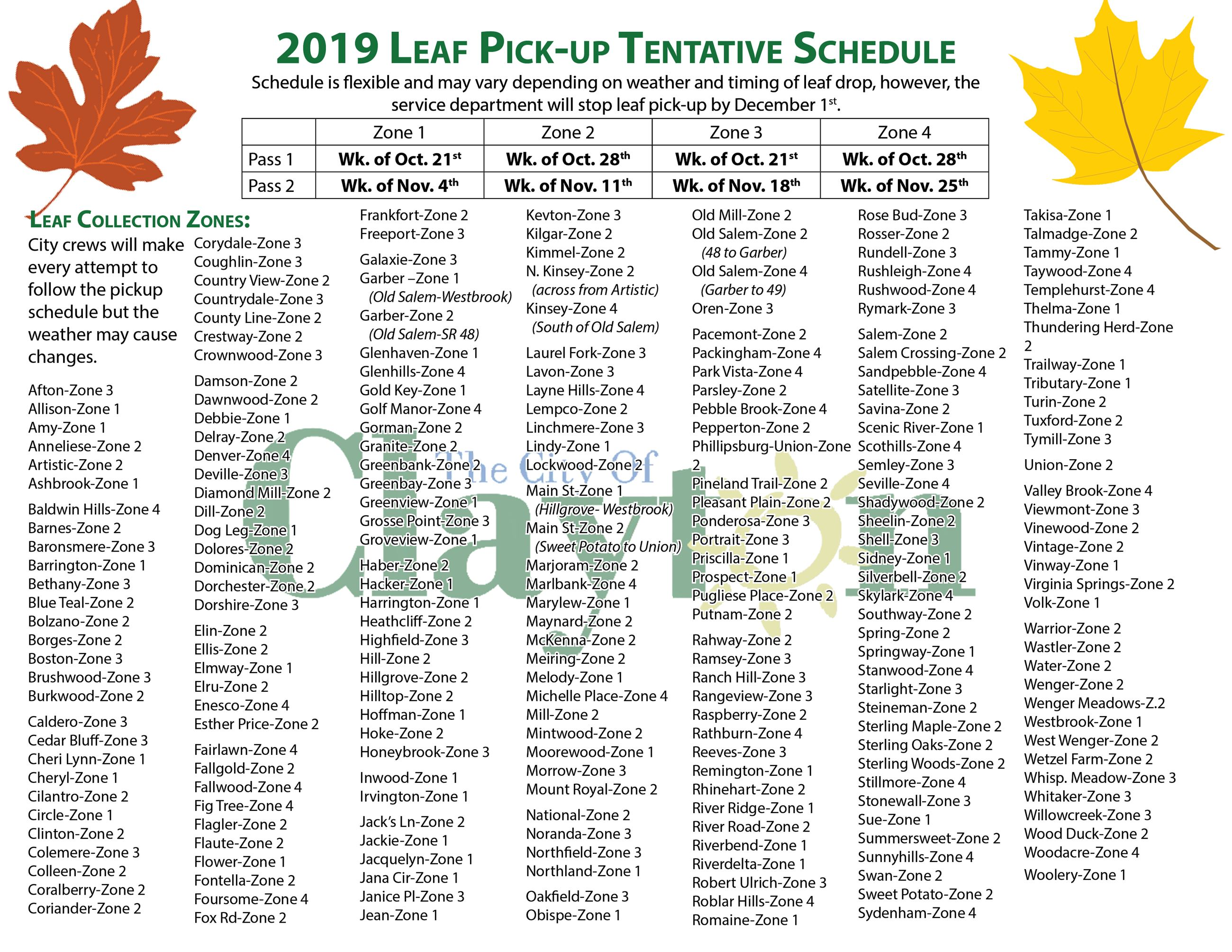 Leaf Pickup FLyer 20192