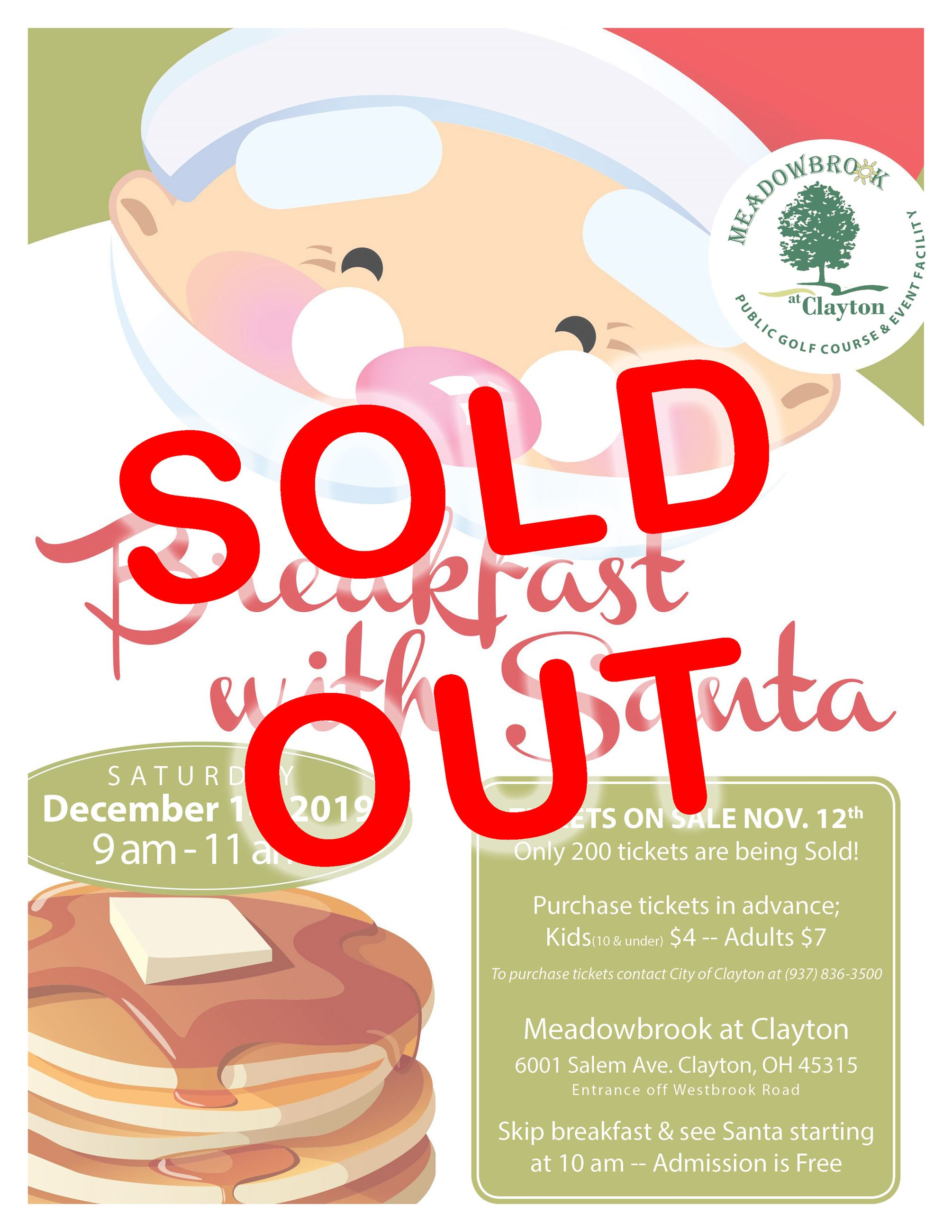Breakfast with Santa 2019 - SOLD OUT