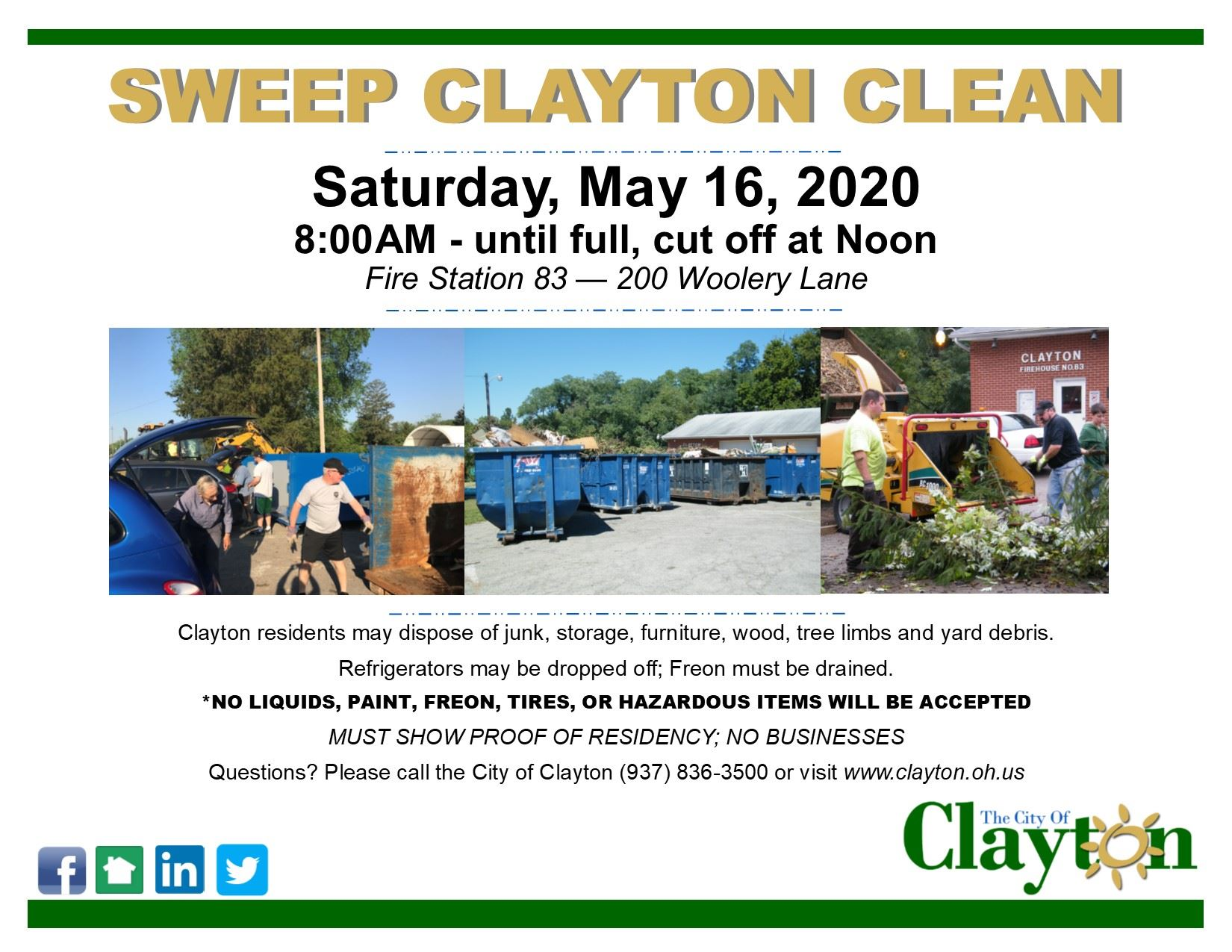 Sweep Clayton Clean Flyer - May 2020