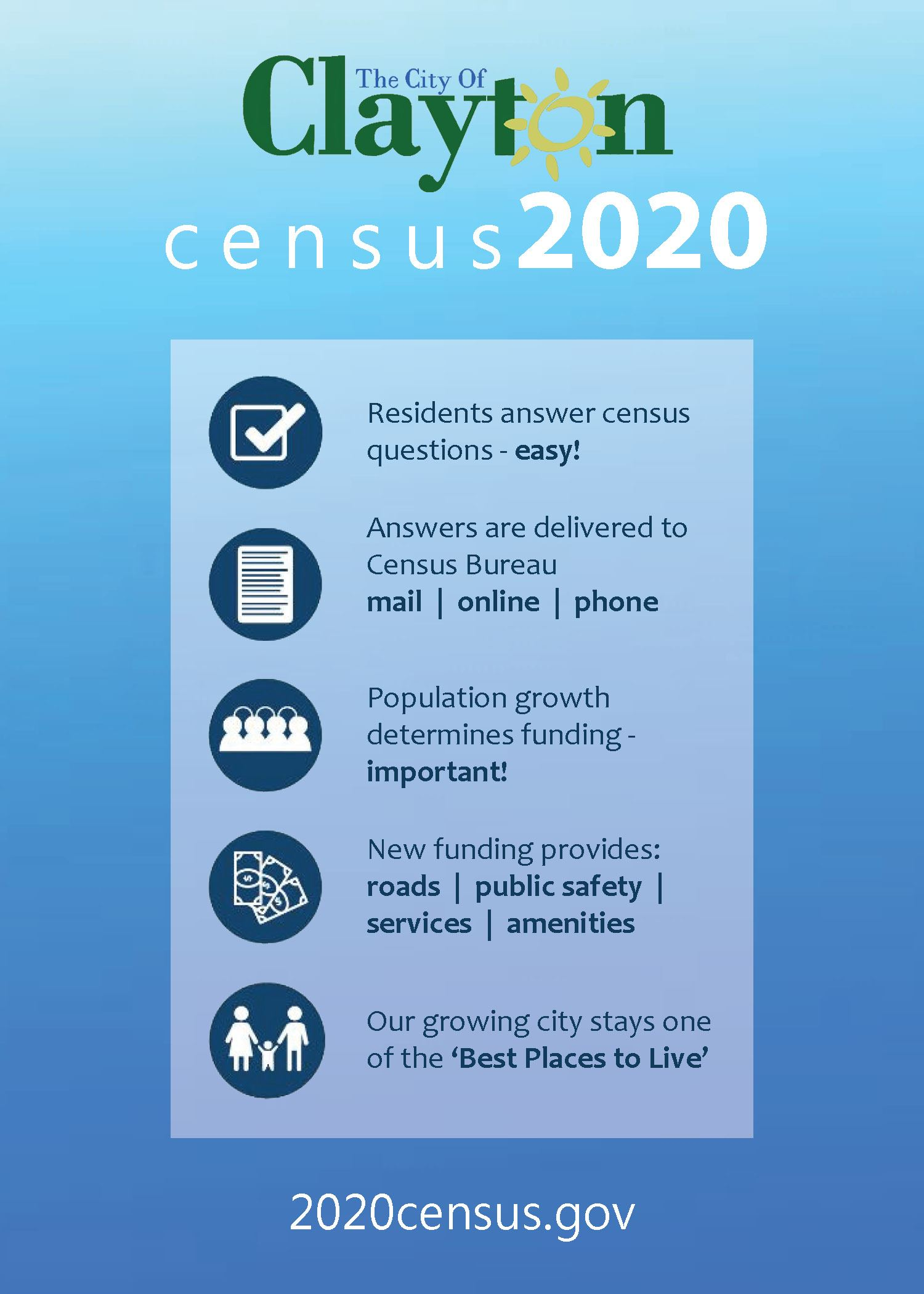 Census Flyer - Clayton